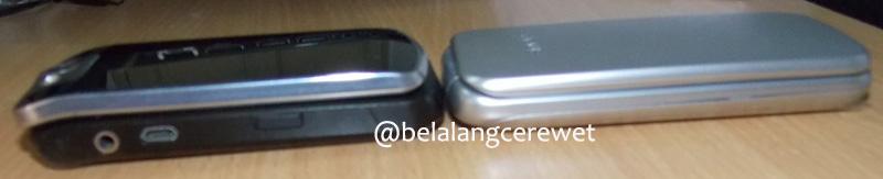 Namun dalam posisi tertutup, Samsung Citrus lebih ramping dan lebih elegan :D