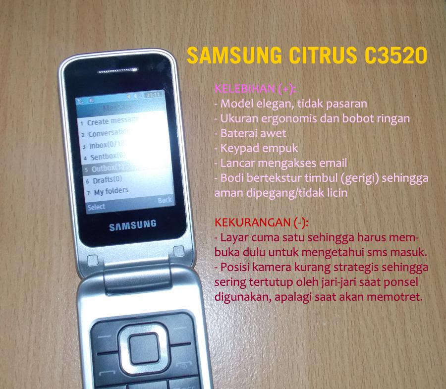 Review Samsung Citrus C3520 Ponsel Clamshell Yang Elegan Blog