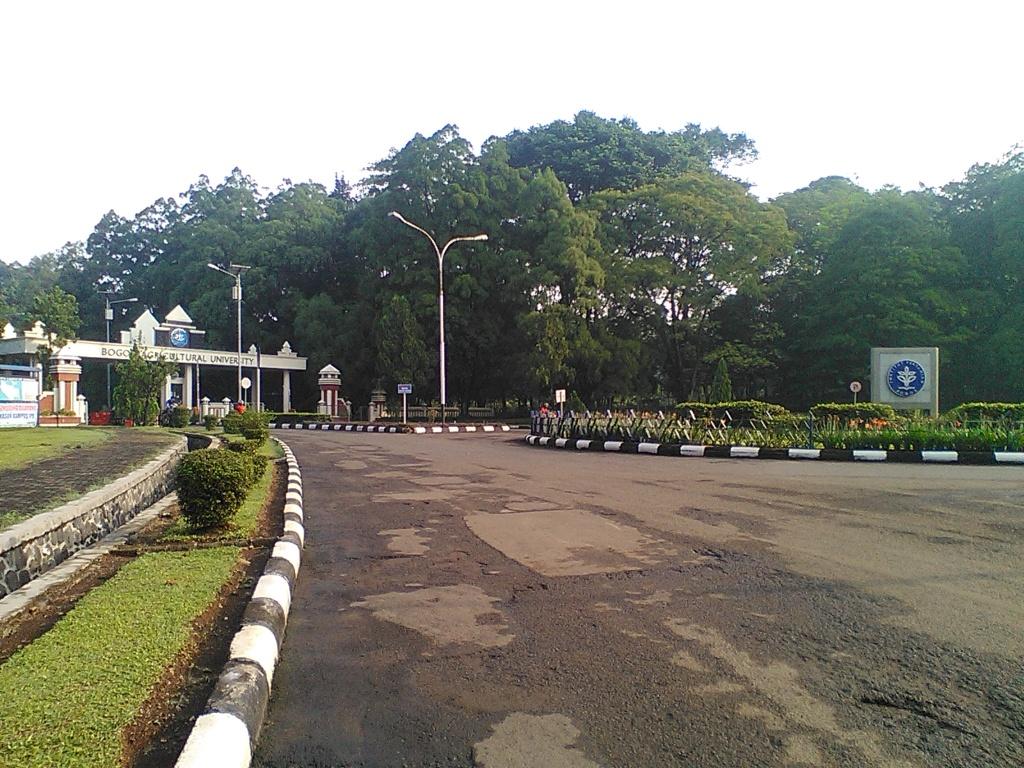 Kampus IPB Dramaga, suatu pagi saat saya nyasar akibat mencoba rute baru ;)