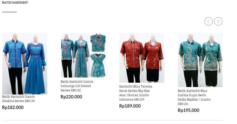Aneka model batik sarimbit cocok untuk acara resmi atau keluarga.