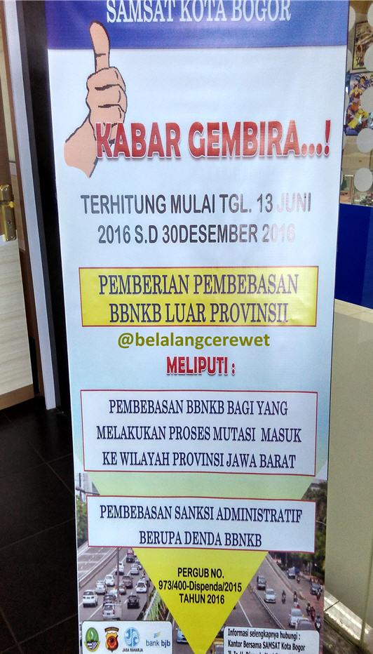 Bayar Pajak Motor Online di Samsat BTM Bogor – blog belalang cerewet