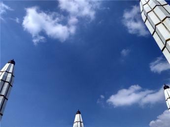 Payung Masjid Agung Jawa Tengah menjulang menyentuh langit