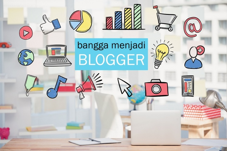 digital composite of marketing graphics with office background
