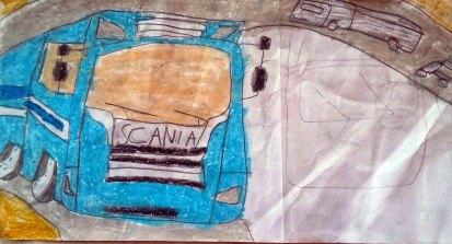 gambar truk scania